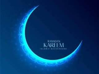 发光的斋月贾巴尔的装饰月亮设计