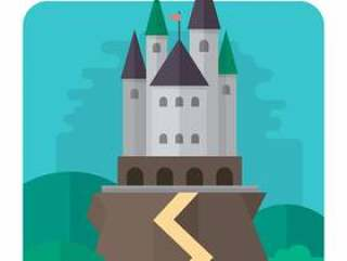 平坦的城堡设计