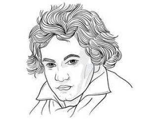 路德维希·范·贝多芬的绘画插图