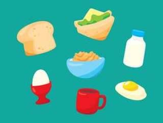 早餐食物和饮料