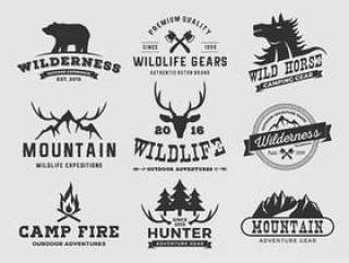 森林山冒险标志设计