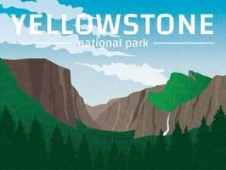 黄石国家公园海报