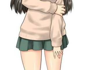 学校女孩的照片(眼泪)