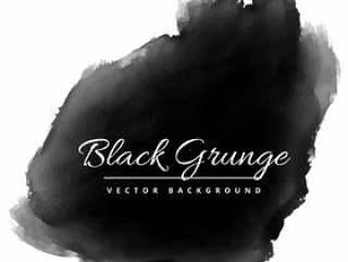 墨水矢量设计插画黑色grunge水彩