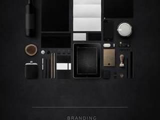 黑色VI素材PSD分层Branding_MU