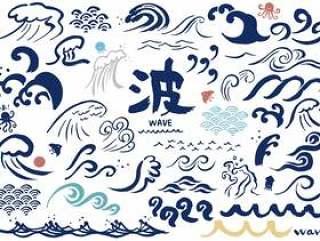 各种各样的写作波浪