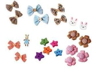 可爱装饰扣素材扣子包扣兔子草莓花蝴蝶结