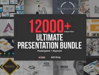 12000+页面60套PPT模板合集包含PowerPoint和Keynote