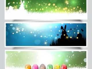 复活节背景的集合