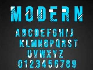 字母表字体现代设计