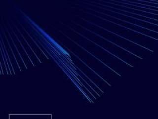与线光线的蓝色背景
