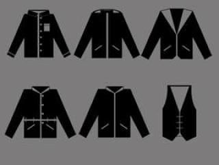 男装服装图标剪影PSD分层素材
