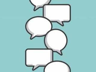 沟通讲话泡泡