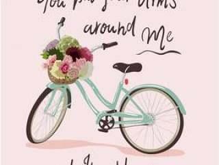 与自行车例证的印刷术口号