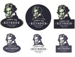 贝多芬复古会徽标志