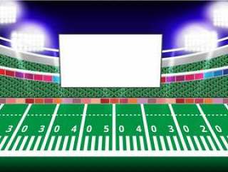 Jumbotron和泛光灯在体育场的空白屏幕