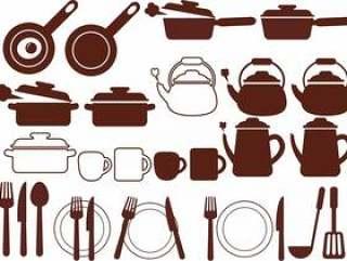 图标样式厨房用品图