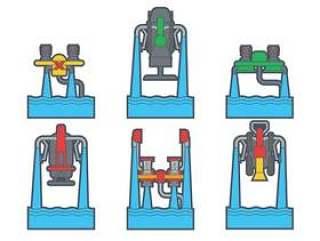 水喷射包装矢量包