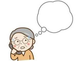 电话打乱了奶奶的讲话泡泡