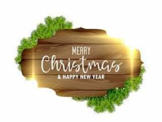 圣诞节节日背景与木制框架和光线影响