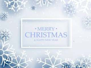 最小的风格圣诞快乐圣诞问候与雪花