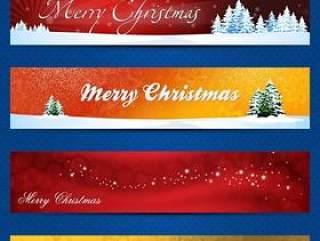 华丽圣诞节banner—psd分层素材