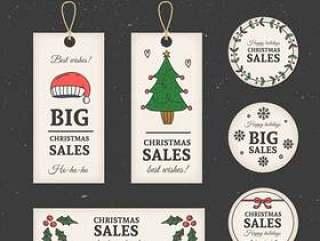 圣诞促销吊牌标签