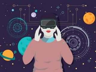 虚拟现实体验第3卷矢量