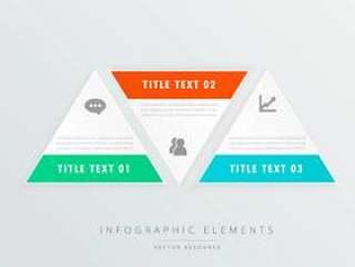 三角形形状信息图表模板与业务图标