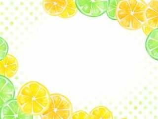 【透明】水彩手绘水果架绿色