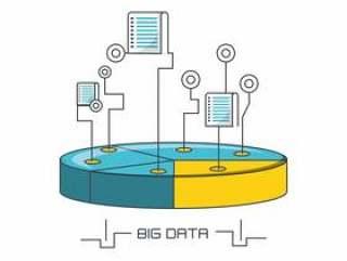 大数据设计与数据磁盘图标