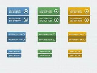 网页按钮PSD分层