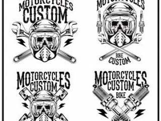 设置徽标摩托车