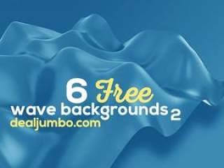 6个 的波3D背景2(6 Free Wave 3D Backgrounds 2)