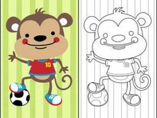 在彩图传染媒介的好的猴子动画片