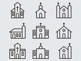 教会和修道院图标