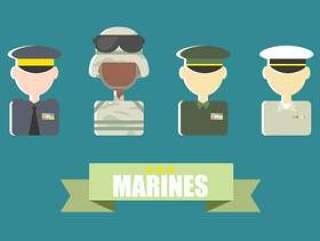 海军陆战队平面矢量图