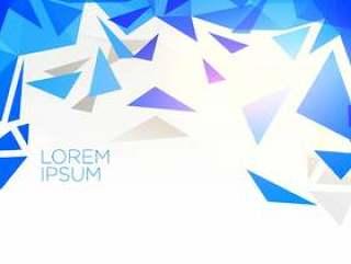 创意蓝色抽象三角形状矢量背景