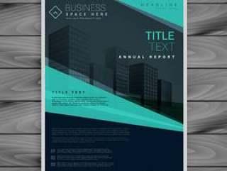 蓝色专业宣传册设计模板
