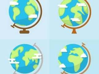 扁平化地球仪