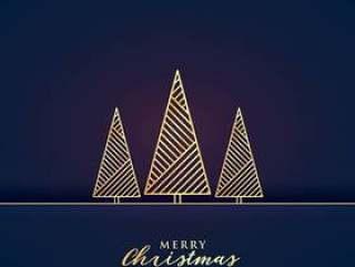与金黄树的美好的优质圣诞节节日问候d