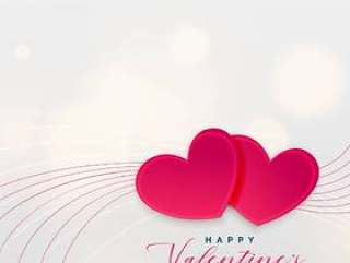 两个爱情心的情人节#x27; s天的卡设计