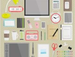 书桌周围的物品图