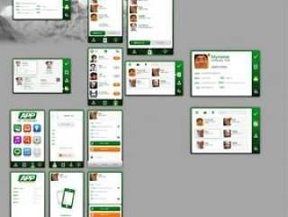 一套手机UI界面设计PSD分层素材