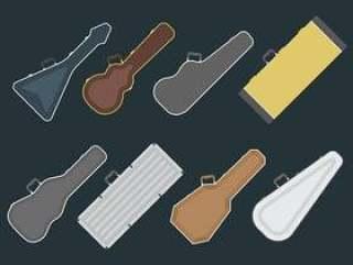 吉他案例矢量图标