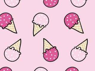 Cute ice cream pattern design for t shirt printing
