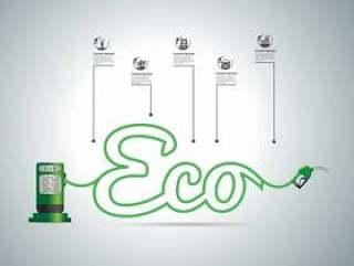 Eco燃料概念,例证现代设计模板