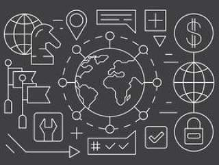的全球业务图标