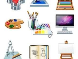 卡通办公图标—png图片