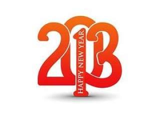 2013新年快乐数字创意背景